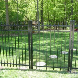 Tampa aluminum double entry gate